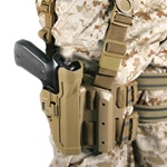 BLACKHAWK LEVEL 2 TACTICAL SERPA HOLSTER, BERETTA 92/96, RIGHT-HANDED, COYOTE TAN