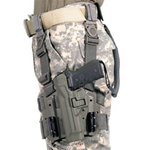 BLACKHAWK LEVEL 2 TACTICAL SERPA HOLSTER, BERETTA 92/96, LEFT-HANDED, FOLIAGE GREEN