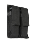 BLACKHAWK HOOK-BACK DOUBLE MAGAZINE POUCH, BLACK
