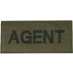 AGENT PATCH (BLACK ON OD GREEN)