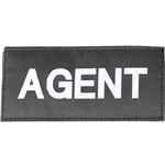 AGENT PATCH (WHITE ON BLACK)