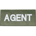 AGENT PATCH (WHITE ON OD GREEN)