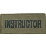 INSTRUCTOR PATCH (BLACK ON OD GREEN)