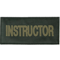 INSTRUCTOR PATCH (OD GREEN ON BLACK)