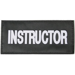 INSTRUCTOR PATCH (WHITE ON BLACK)
