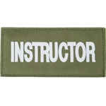 INSTRUCTOR PATCH (WHITE ON OD GREEN)