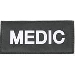 MEDIC PATCH (WHITE ON BLACK)