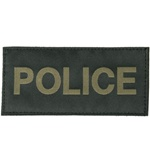 POLICE PATCH (OD GREEN ON BLACK)