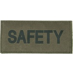 SAFETY PATCH (BLACK ON OD GREEN)