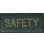 SAFETY PATCH (OD GREEN ON BLACK)