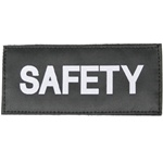 SAFETY PATCH (WHITE ON BLACK)