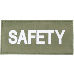 SAFETY PATCH (WHITE ON OD GREEN)