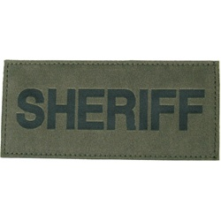 SHERIFF PATCH (BLACK ON OD GREEN)