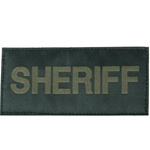 SHERIFF PATCH (OD GREEN ON BLACK)