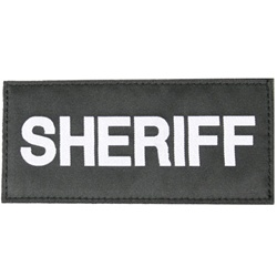 SHERIFF PATCH (WHITE ON BLACK)