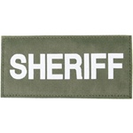 SHERIFF PATCH (WHITE ON OD GREEN)