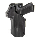 BLACKHAWK 44NB00BK T-SERIES L2D LIGHT-BEARING RED DOT SIGHT (RDS) DUTY HOLSTER, GLOCK 17 WITH STREAMLIGHT TLR-1/2, LEFT HANDED