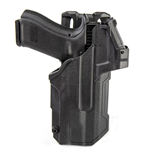 BLACKHAWK 44NB00BK T-SERIES L2D LIGHT-BEARING RED DOT SIGHT (RDS) DUTY HOLSTER, GLOCK 17 WITH STREAMLIGHT TLR-1/2, RIGHT HANDED