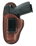BIANCHI MODEL 100 LEATHER IWB HOLSTER, SIZE 9. LEFT HANDED