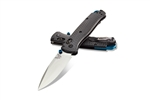 BENCHMADE MODEL 535BK-3 BUGOUT, CARBON FIBER HANDLE, SATIN BLADE