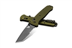 BENCHMADE 537SGY-1 BAILOUT, ANODIZED ALUMINUM HANDLES, M4 STEEL