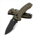 BENCHMADE 980SBK TURRET, SERRATED, BLACK BLADE