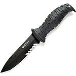 CRKT ULTIMA II KNIFE, BLACK SERRATED BLADE