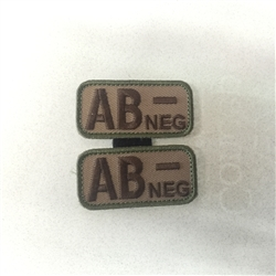 MSM BLOODTYPE PAIR, AB NEG, MULTICAM