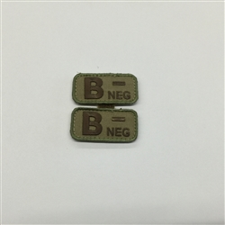 MSM BLOODTYPE PAIR, B NEG, MULTICAM