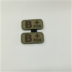 MSM BLOODTYPE PAIR, B POS, MULTICAM