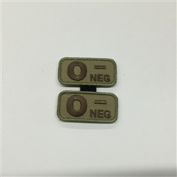 MSM BLOODTYPE PAIR, O NEG, MULTICAM