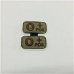 MSM BLOODTYPE PAIR, O POS, MULTICAM
