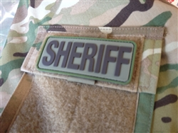 TPS SHERIFF POCKET FLAP PATCH, PVC, MULTICAM, WITH VELCRO