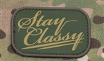 MSM STAY CLASSY PATCH, MULTICAM