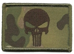 PUNISHER FLAG PATCH W/VELCRO, MULTICAM