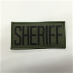SHERIFF PATCH, BLACK ON OD