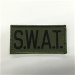 S.W.A.T. PATCH, BLACK ON OD