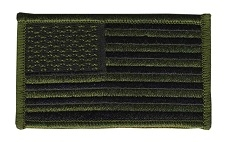 AMERICAN FLAG PATCH, OD / BLACK, FORWARD