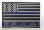 BLUE LIVES MATTER, Tactical Pro Shop Custom Patch w/Velcro