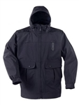 PROPPER Defender Gamma Long Rain Duty Jacket with Drop Tail, LAPD Navy, 3X-LARGE
