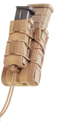 HSGI MOLLE DOUBLE DECKER TACO POUCH, RIFLE/PISTOL, COYOTE