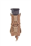 HSGI MOLLE MOUNTED PISTOL TACO, UNIVERSAL SINGLE, COYOTE