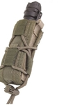 HSGI MOLLE MOUNTED PISTOL TACO, UNIVERSAL SINGLE, SMOKE GREEN