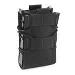 HSGI SINGLE RIFLE TACO POUCH MOLLE, BLACK