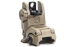 MAGPUL MBUS FLIP-UP REAR SIGHT, POLYMER (DARK EARTH)
