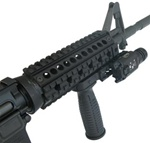 ALUMINUM TACTICAL FOREGRIP W/ STORAGE CAVITY & RAIL