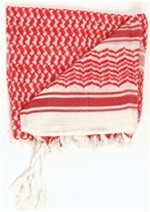 SHEMAGH (TRADITIONAL DESERT HEADWEAR) WHITE/RED