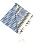 SHEMAGH (TRADITIONAL DESERT HEADWEAR) BLUE/WHITE