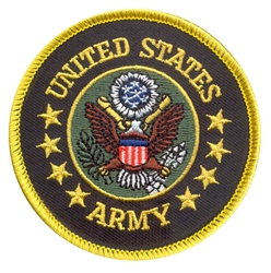 U.S. ARMY 3in ROUND PATCH, WITH HOOK VELCRO