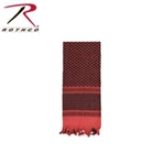 LIGHTWEIGHT SHEMAGH (TRADITIONAL DESERT HEADWEAR) RED/BLACK